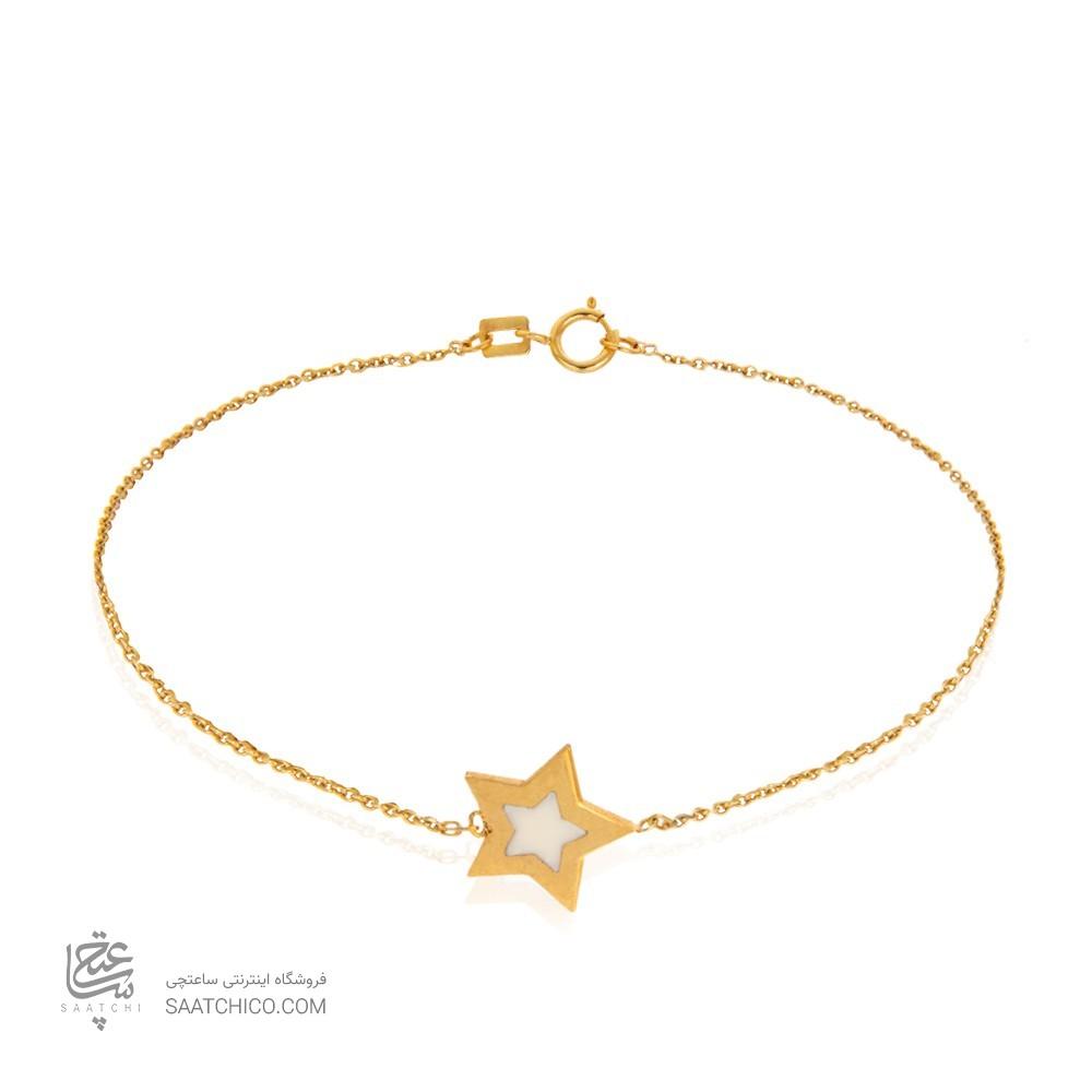دستبند طلا با تک ستاره کد cb384
