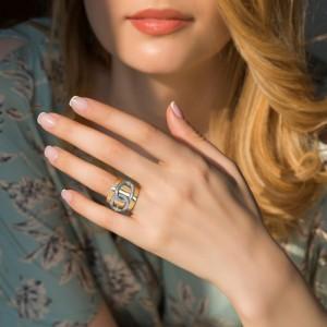 انگشتر طلا کد CR339
