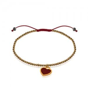 دستبند طلا با سنگ حدید کد xb804