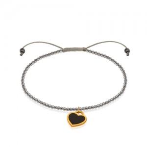 دستبند طلا با سنگ حدید کد xb805