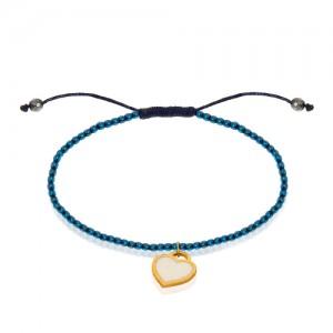 دستبند طلا با سنگ حدید کد xb806