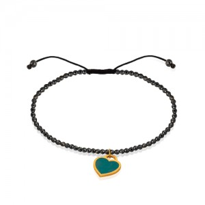 دستبند طلا با سنگ حدید کد xb807
