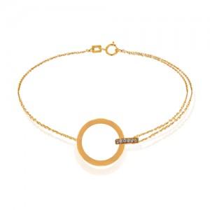 پابند طلا طرح حلقه و دایره کد LA706