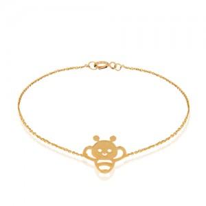 دستبند طلا کودک طرح زنبور  کد KB371