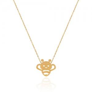 گردنبند طلا کودک طرح زنبور کد kn720