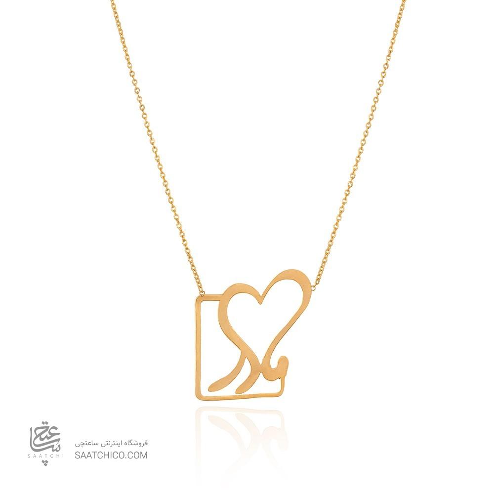 گردنبند طلا طرح مادر کد LN861
