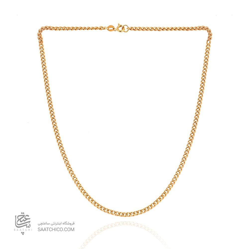 زنجیر طلای مردانه طرح کارتیه کد MN703