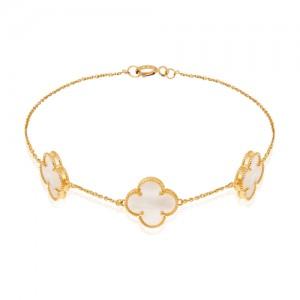 دستبند طلا زنانه طرح ونکلیف کد XB809