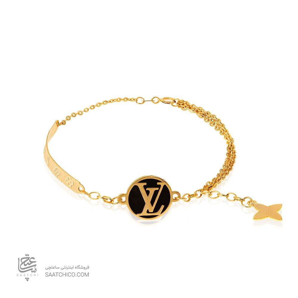 دستبند طلا طرح لویی ویتون کد CB398