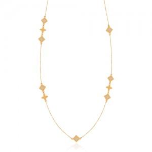 گردنبند طلا رو لباسی میناکاری کد CN636