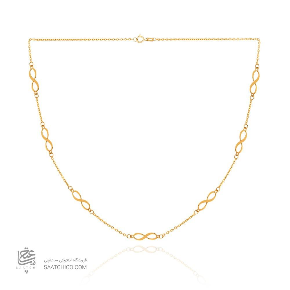 گردنبند طلا طرح بینهایت کد CN428