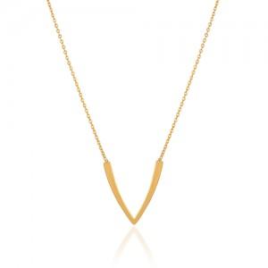 گردنبند طلا طرح V کد LN862