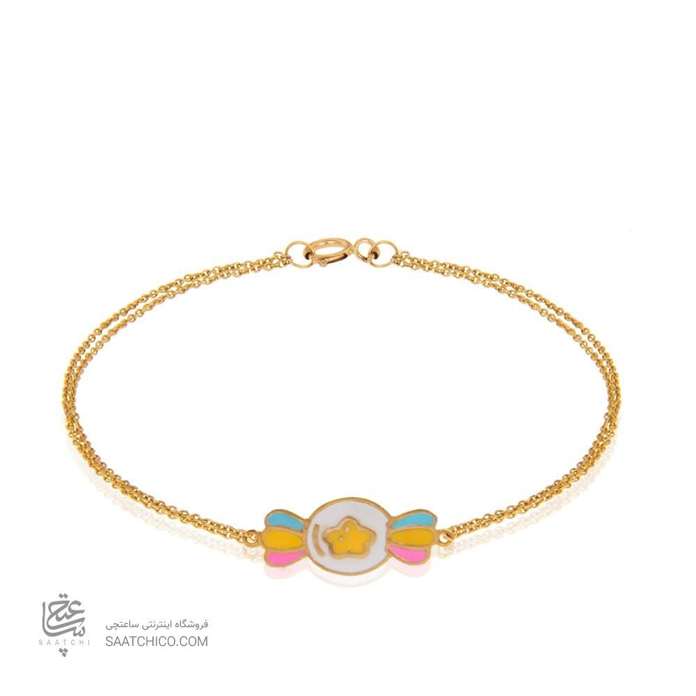 دستبند طلای کودک کد KB369