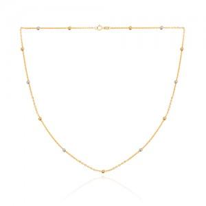 گردنبند طلا با گوی البرنادو کد CN429