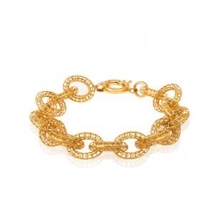 دستبند طلا طرح زنجیر درشت کد CB406