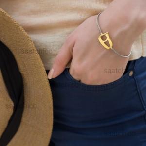 دستبند طلا طرح نیمانی کد CB404