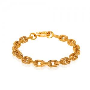 دستبند طلا طرح هرمس کد CB405