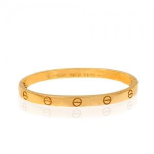 دستبند طلا طرح Love کارتیه کد CB402
