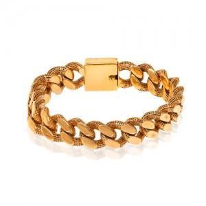 دستبند طلا طرح زنجیر پهن کارتیه کد CB399