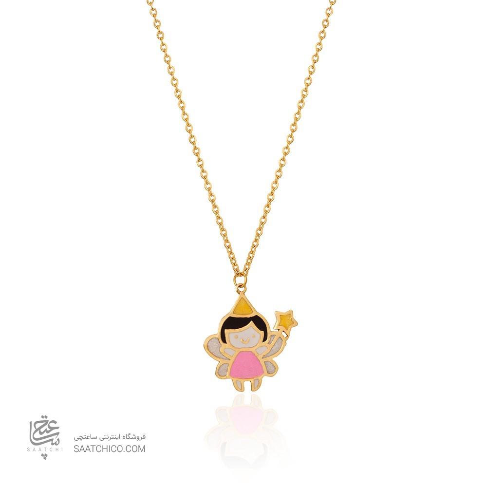 گردنبند طلا کودک طرح فرشته کد kn719