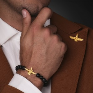 سنجاق کت طلا مردانه کد MO904
