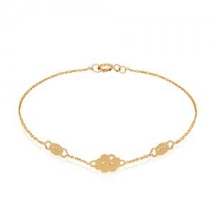 دستبند طلا کودک طرح ابر کد KB358