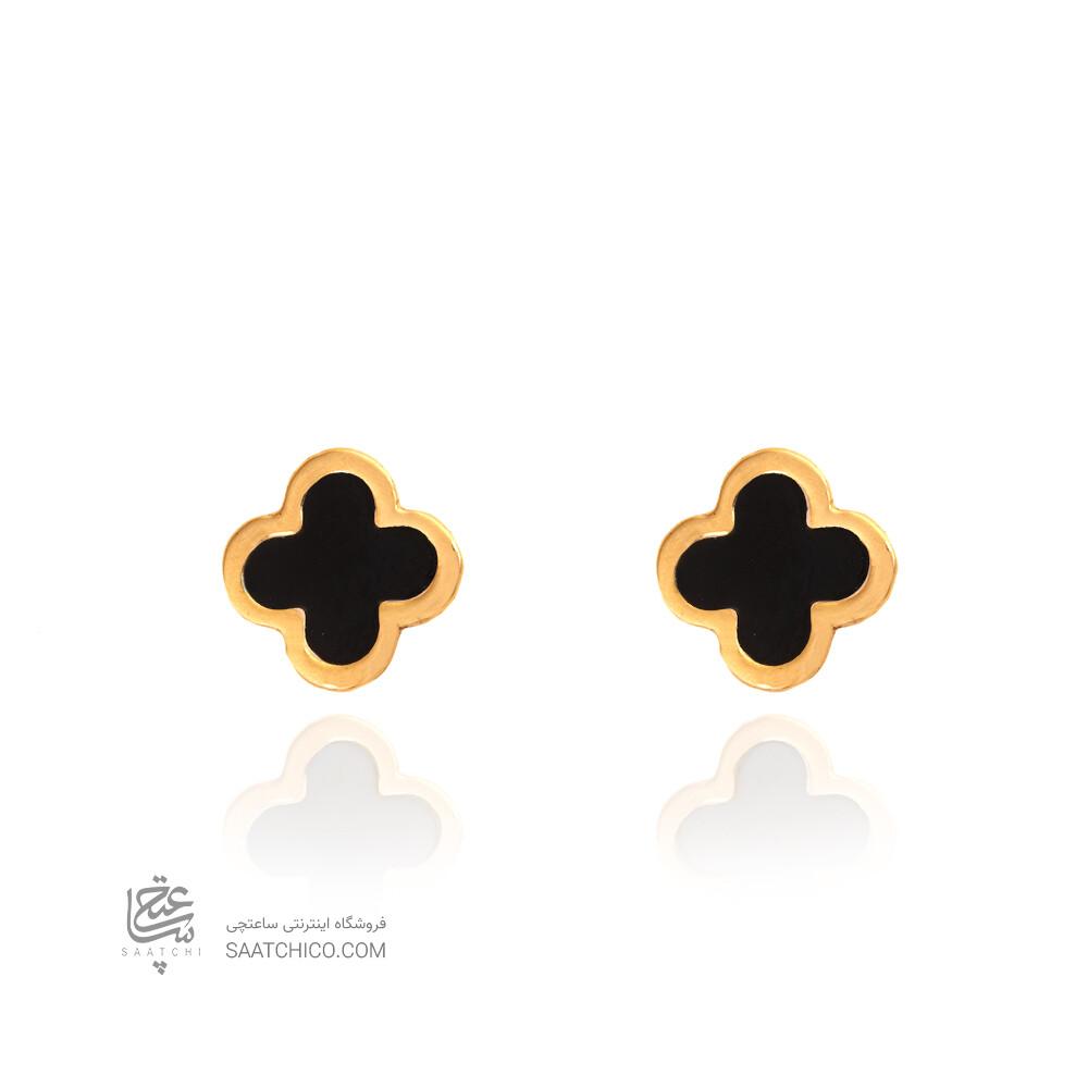 گوشواره طلا زنانه طرح ونکلیف میناکاری کد CE380