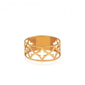 انگشتر طلا زنانه کد CR472