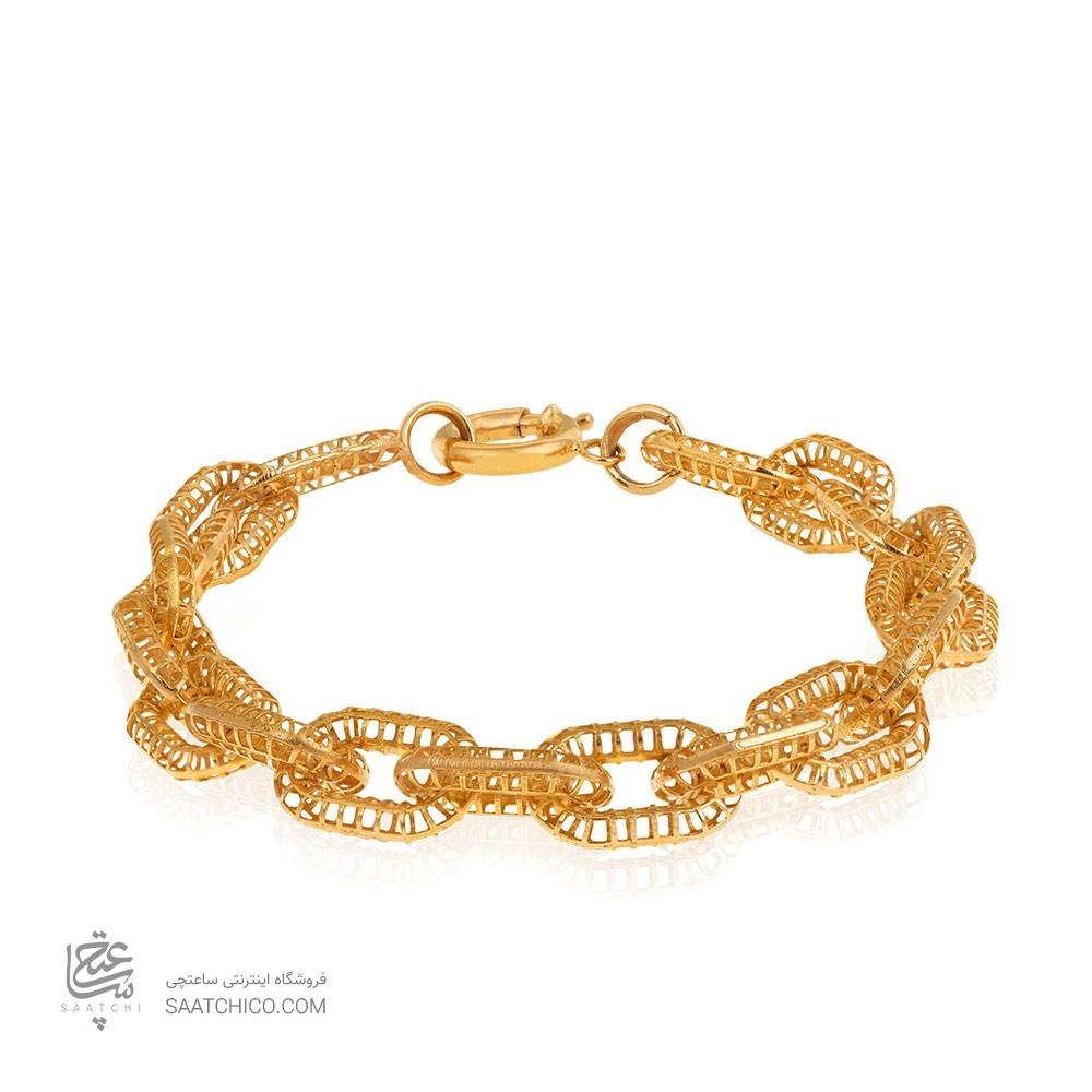 دستبند طلا طرح هرمس درشت کد CB408