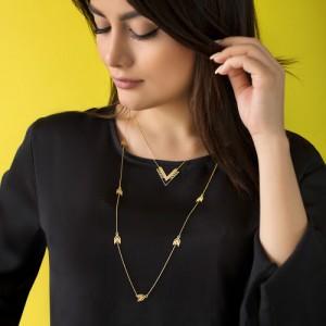 گردنبند رو لباسی طلا زنانه طرح فلش کد XN639