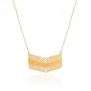 گردنبند طلا طرح اسلیمی کد LN866