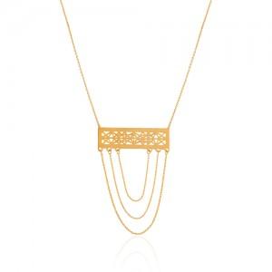 گردنبند طلا طرح اسلیمی کد LN863