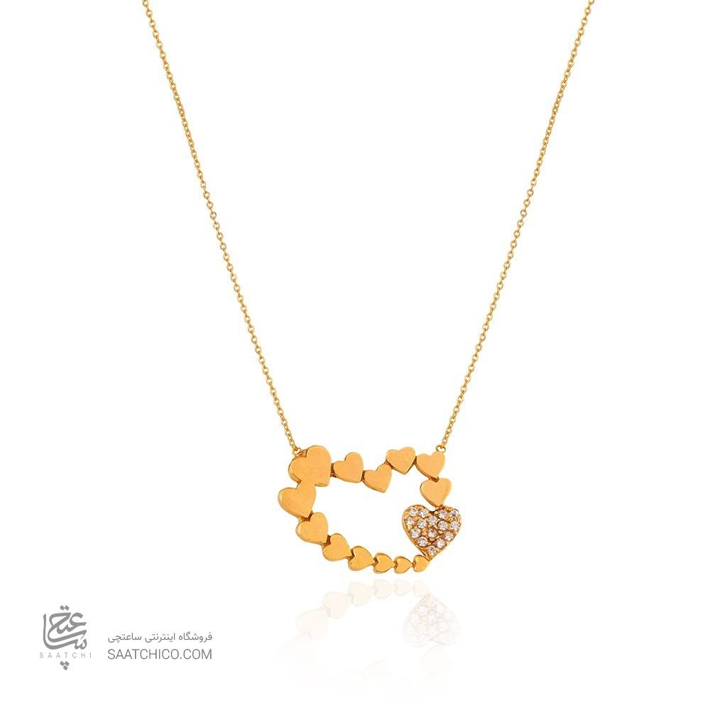 گردنبند طلا زنانه طرح قلب کد CN437