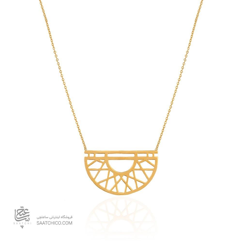 گردنبند طلا طرح اسلیمی کد LN867