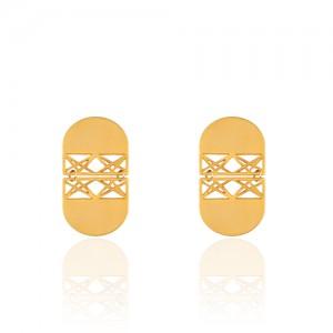 گوشواره طلا طرح اسلیمی کد LE635
