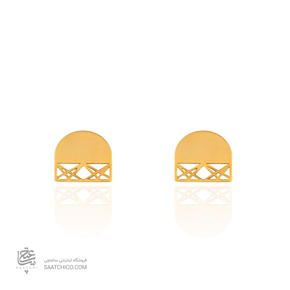 گوشواره طلا طرح اسلیمی کد LE634