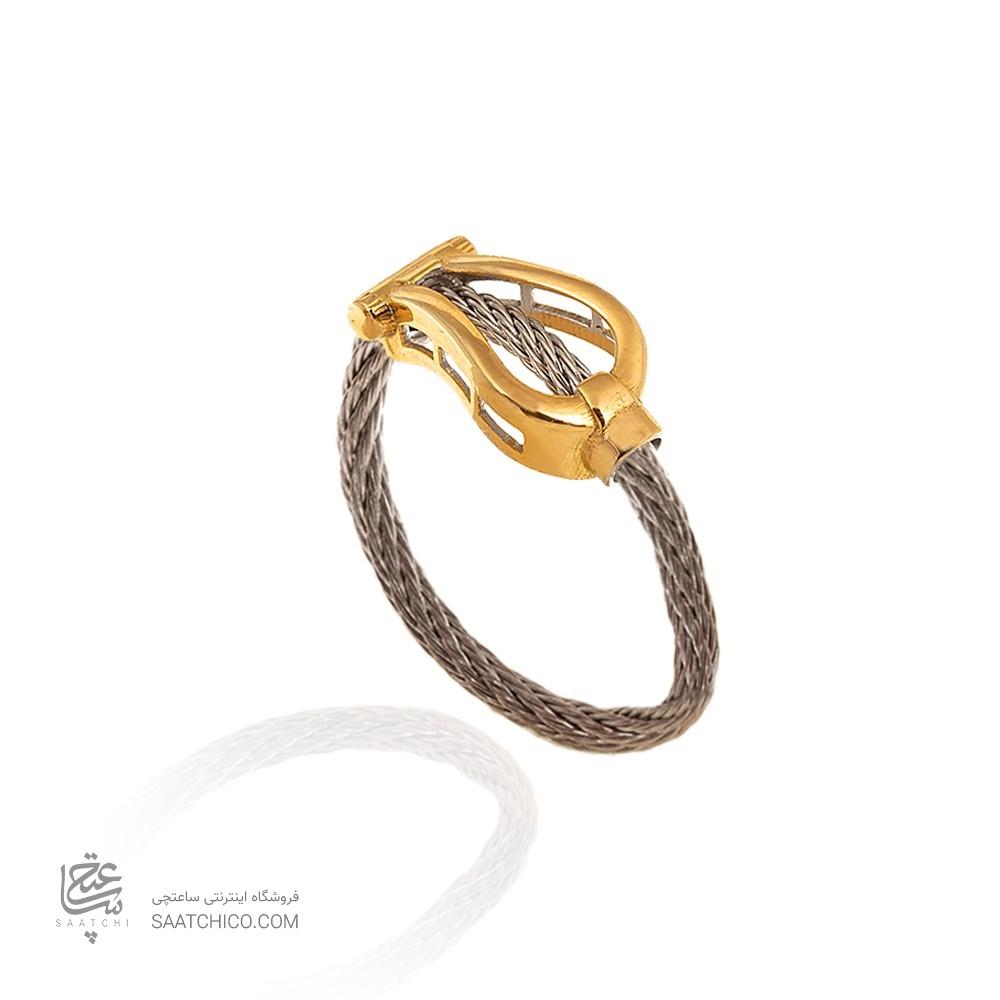 انگشتر طلا زنانه طرح فرد کد CR301