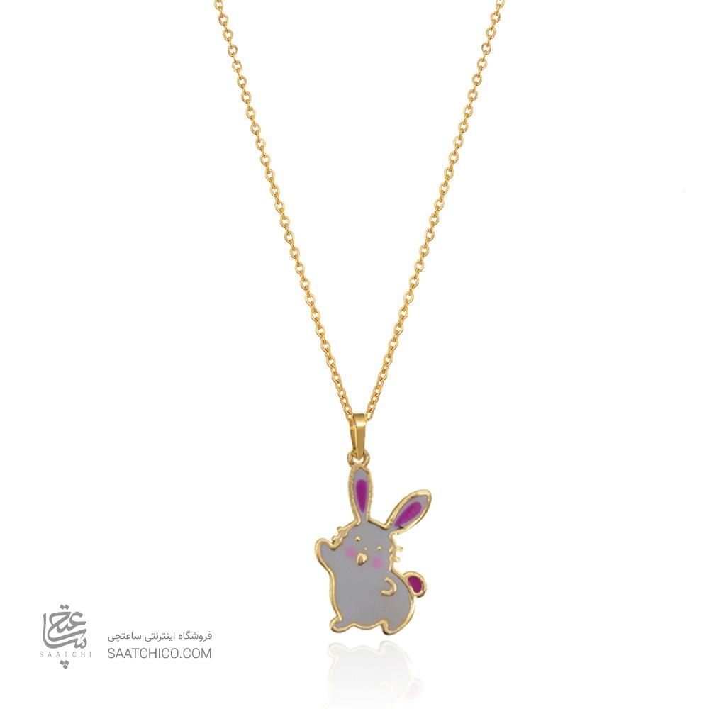 آویز طلا کودک طرح خرگوش کد KP620