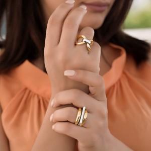 انگشتر طلا زنانه کد CR327