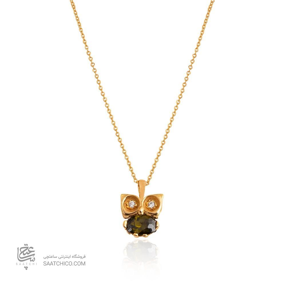 گردنبند طلا طرح جغد کد CN325