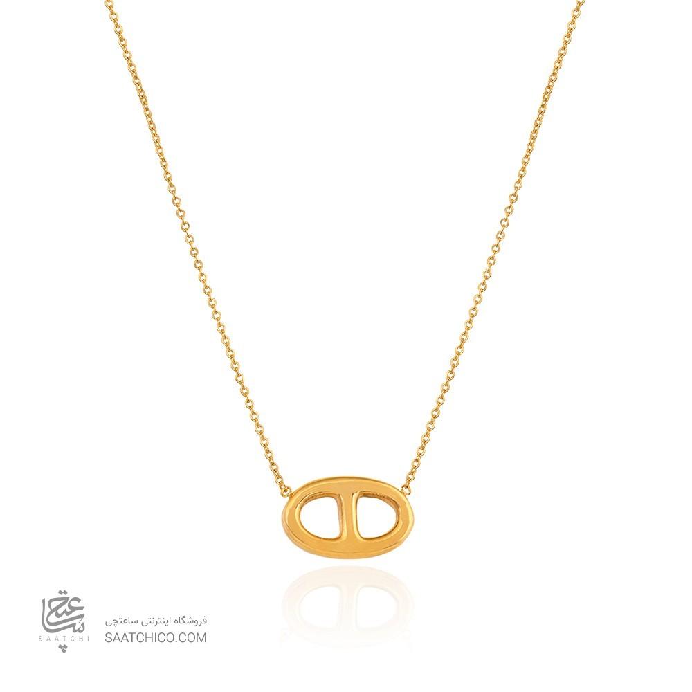 گردنبند طلا زنانه طرح هرمس کد CN311