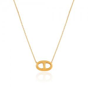 گردنبند طلا زنانه طرح ه نیمانی کد CN311