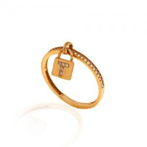انگشتر طلا طرح قفل تیفانی کد CR329