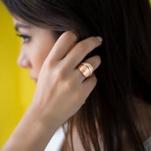 انگشتر طلا زنانه کد CR353
