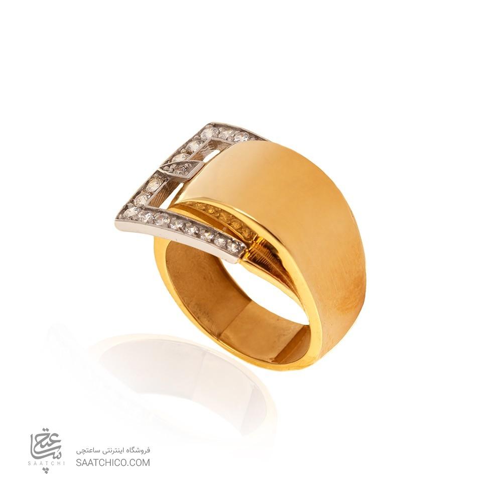 انگشتر طلا نگیندار کد CR348