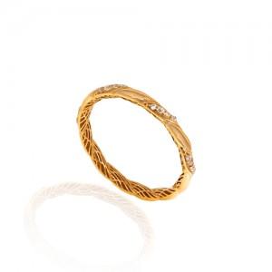 انگشتر طلا نگیندار کد CR305