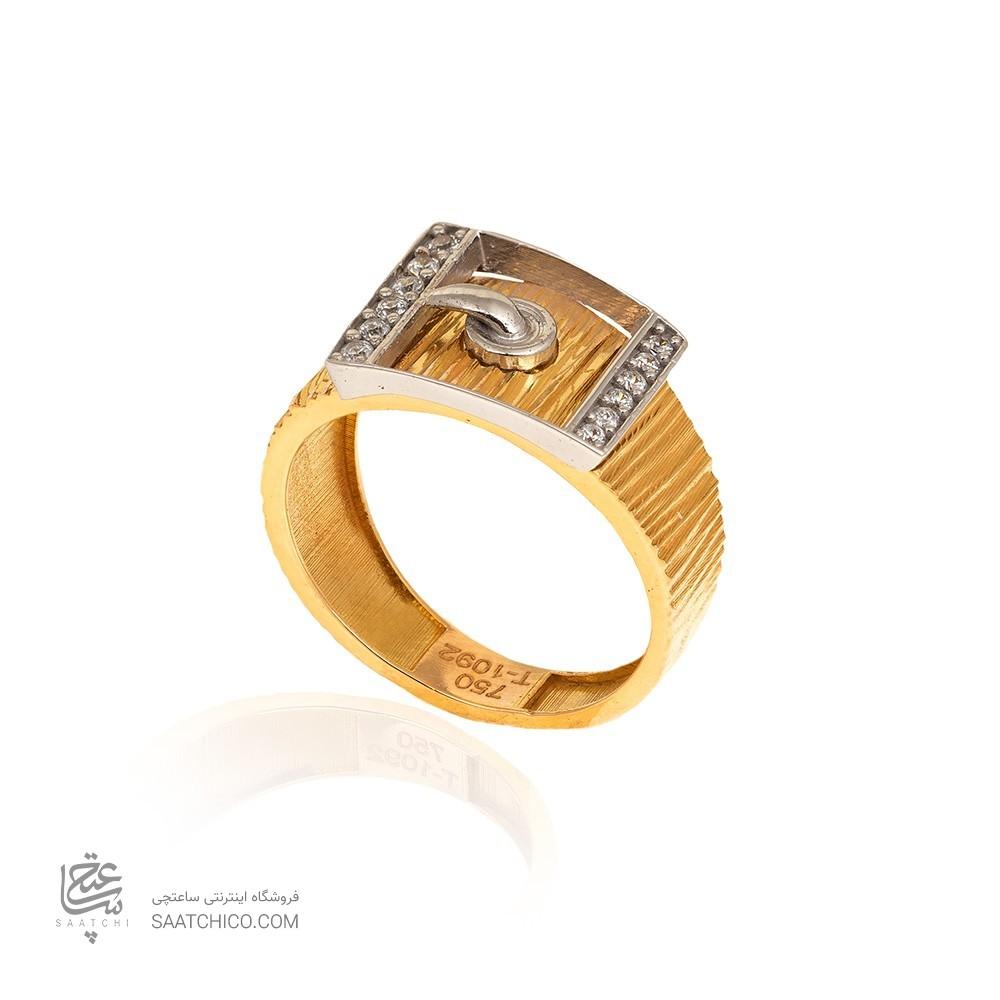 انگشتر طلا با سگک نگیندار کد CR310