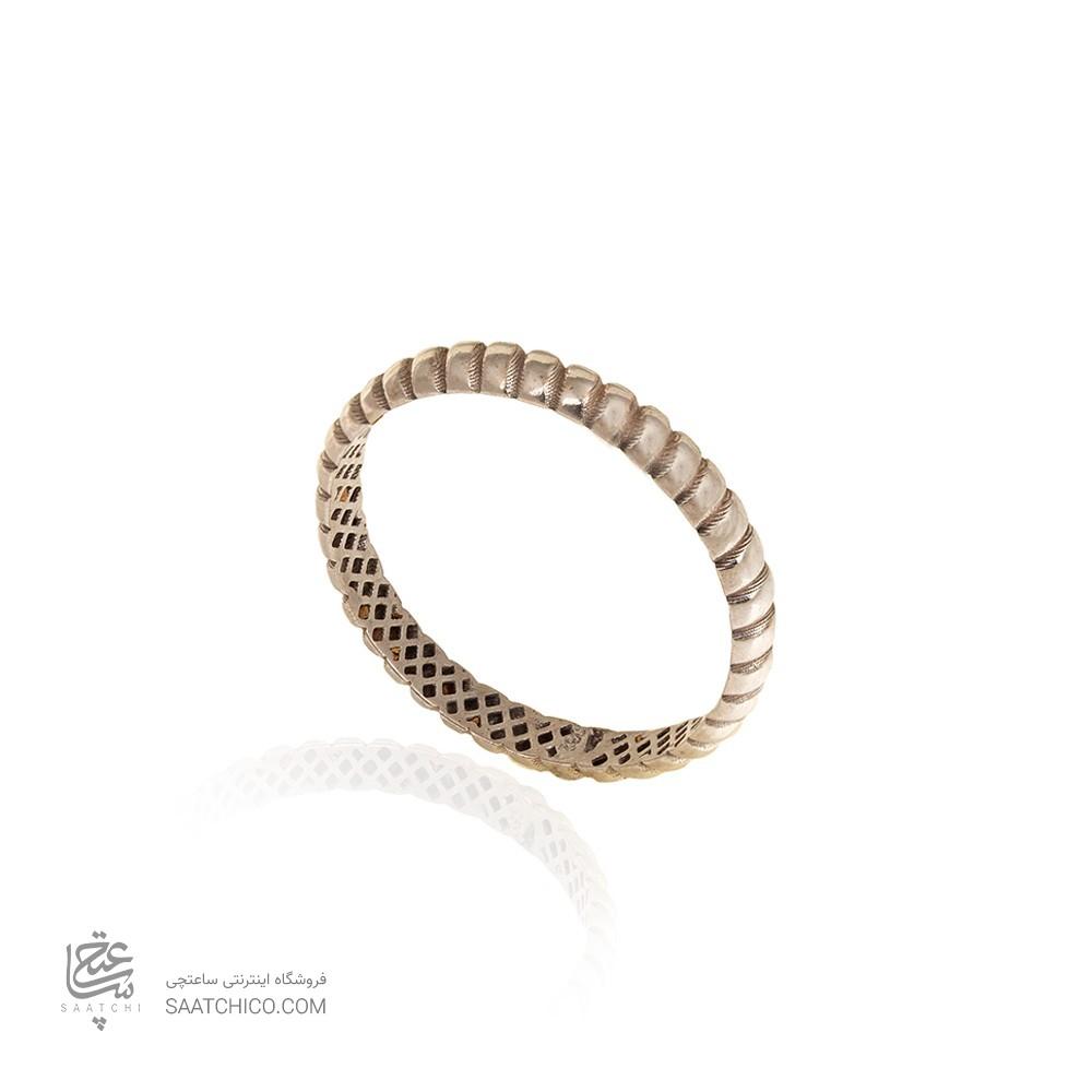 انگشتر طلا سفید کد CR317