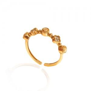 انگشتر طلا نگیندار کد CR319