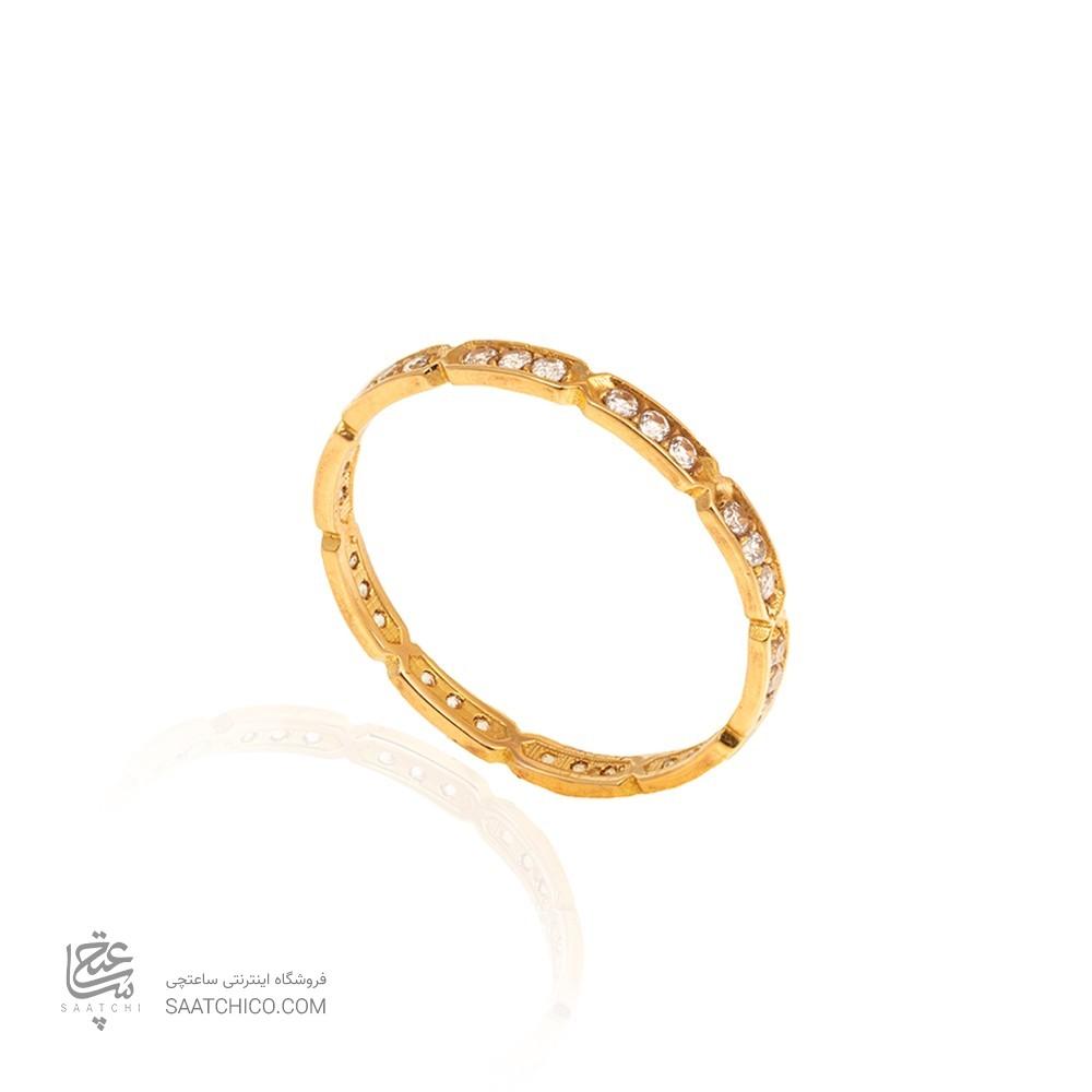 انگشتر طلا نگیندار کد CR378